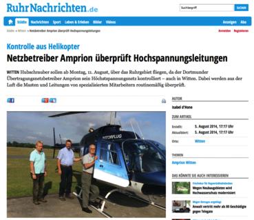 Screenshot des Online-Artikels 'Kontrolle aus Helikopter'
