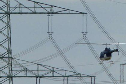 rotorflug Artikelbild 1 zu News Kontrollen-unter-Hochspannung-mit-dem-Hubschrauber-ueber-Werl